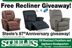 Steele's Free Recliner Giveaway