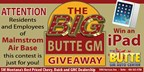 Butte GM Big Giveaway - March