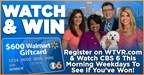 CBS 6 $600-A-Day Walmart Gift Card Giveaway