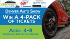 Enter to WIN a 4-Pack of tickets to the Denver Auto Show April 4-8 at the Colorado Convention Center