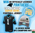 Panthers Cam Newton SB50 Jersey & Championship Hat Giveaway 2
