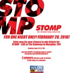 Stomp Ticket Giveaway Facebook Contest