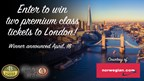 Enter to win two premium class tickets to London! Courtesy of Norwegian Air.