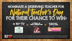 NATIONAL TEACHER�S DAY CLASSROOM TAKEOVER CONTEST