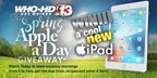 Channel 13's Spring Apple A Day Giveaway