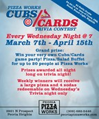 Pizza Works Cubs/Cards Trivia Sweepstakes