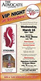 Advocate Night at Stroubes, Win a $100 Stroubes Gi