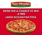 Enter for a Chance to WIN a FREE Large Sicilian Pan Pizza from Papa Murphy's!