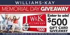 Williams & Kay Memorial Day Giveaway