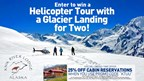 Knik River Lodge Helicopter Glacier Tour for Two Giveaway