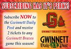 Subscribe to the Daily Post and win tickets to the Gwinnett Braves games