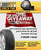 Joels Tire - Tire Giveaway 2016