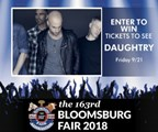Win Tickets to See Daughtry at the Bloomsburg Fair