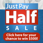 Just Pay Half Sweepstakes