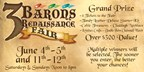 3 Barons Renaissance Fair Giveaway!