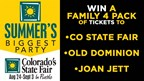 Enter to WIN a Family 4 Pack of Tickets to Colorado's State Fair! Aug 24-Sept 3
