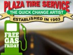 Free Gas Friday with Plaza Tire Service's 53rd Ann