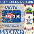 $50 Dairy Queen Card & 4 Bluegrass Fair Tickets!