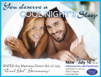 4th of July Cool Gel Giveaway sponsored by Mattres