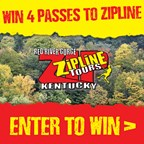 Win 4 tickets to Red River Gorge Zipline