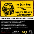 The Lion King- Lion's Share Giveaway