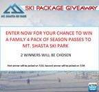 Mt.Shasta July Giveaway
