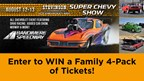 Enter to WIN a Family 4-Pack of tickets to the Super Chevy Show at Bandimere Speedway!