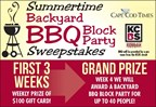 BBQ Block Party Sweepstakes 2016