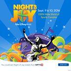 WFTV 2016 Disney's Night of Joy Sweepstakes