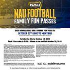 NAU Family Fun Passes October 22