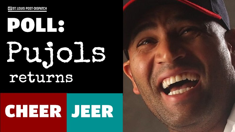 Will you cheer or jeer Pujols when he returns to Busch Stadium?