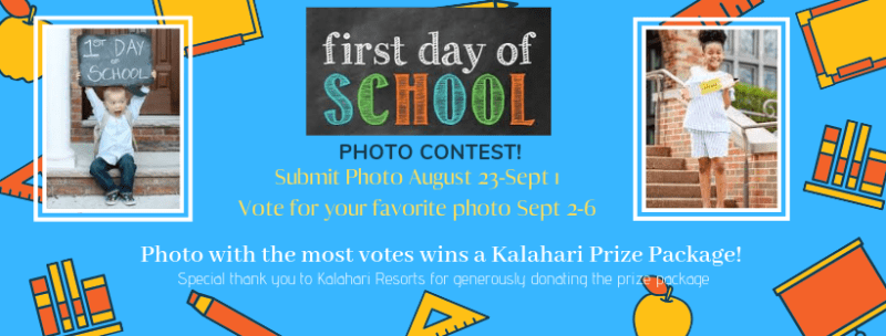 First Day of School Photo Contest