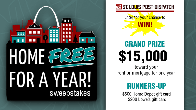 St. Louis Post-Dispatch 🏠 Home Free For A Year Sweepstakes