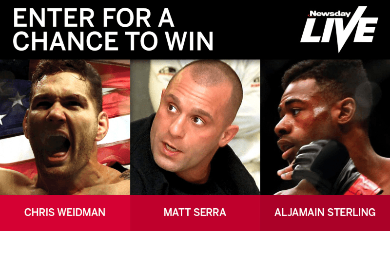 Newsday Live MMA Sweepstakes
