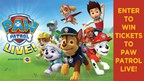 Enter to WIN Tickets to Paw Patrol Live!