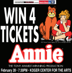 Win 4 Tickets to Annie