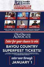 Bayou Country Superfest Ticket Giveaway 2016