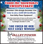 Count the Snowflakes Sweepstakes