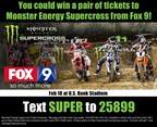 Monster Energy Supercross Ticket Giveaway