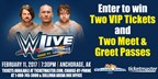 WWE Live Giveaway