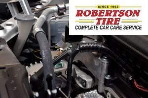 Robertson Tire mock-up - car maintenance trivia