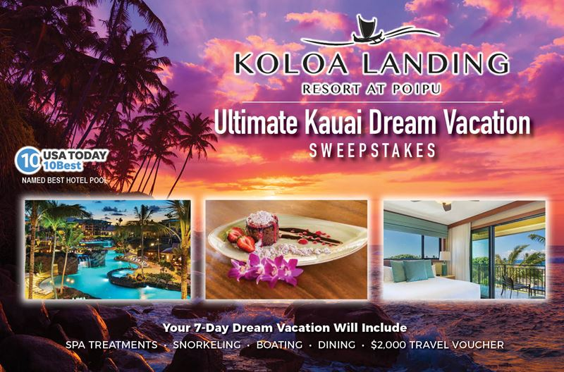 Ultimate Kauai Dream Vacation Sweepstakes Example