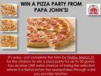 Papa John's Sweepstakes - TEST
