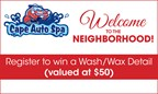 Cape Auto Spa Sweepstakes
