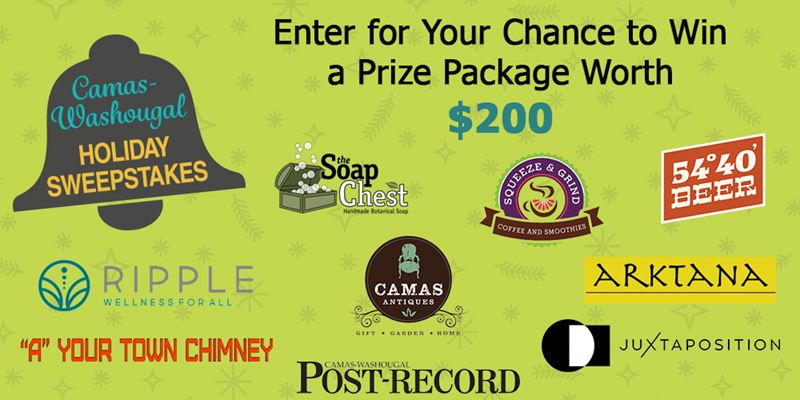 2020 Camas Washougal Holiday Sweepstakes