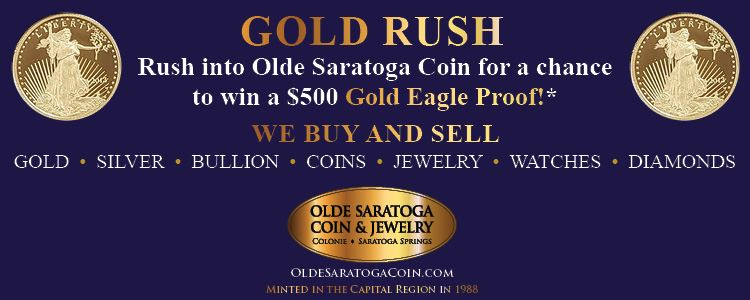 Times Union Gold Rush sponsored by Olde Saratoga Coin & Jewelry