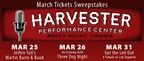March Harvester Tickets Giveaway