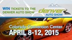 Enter to WIN Tickets to The Denver Auto Show!