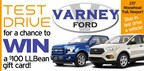 Varney Ford TEST DRIVE for a chance to WIN!