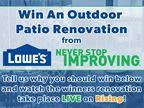 Lowe's Outdoor Patio Renovation Contest
